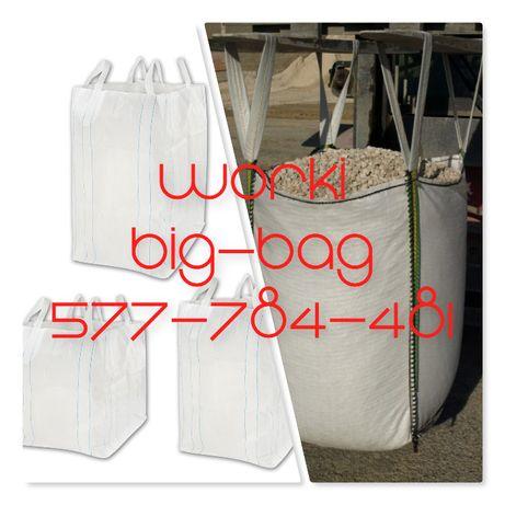 Worki Big Bag Używane 95/95/230cm Do odpadów steropianu kartonu