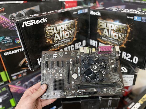 Комплект Asrock h81 pro btc