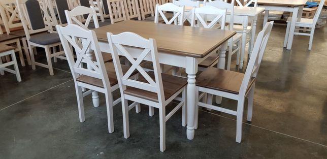 Krzesło prowansalskie Krzyż białe twarde do restauracji baru PROMOCJA!