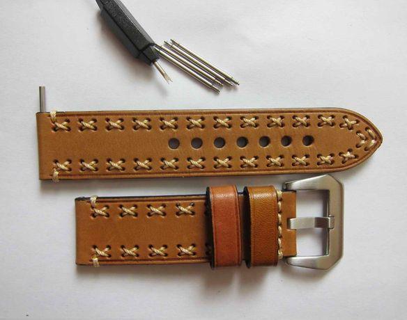 24 мм ремешок кожаный для часов, ремінець для годинника,браслет Police
