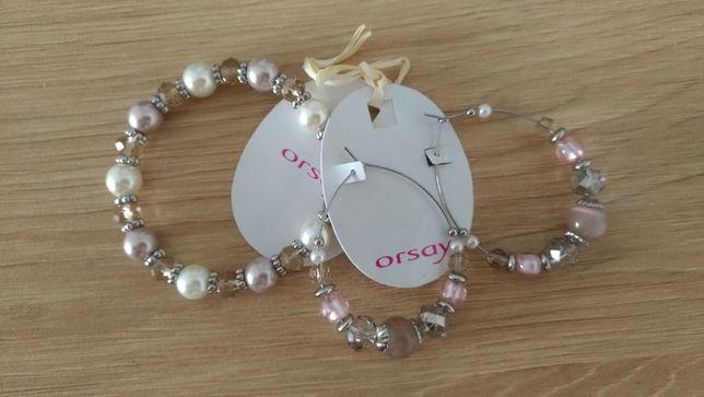 Nowe Kolczyki i bransoletka Orsay