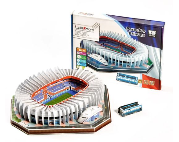 """Стадион Пари Сен-Жермен. Огромные 3D пазлы """"Parc des Princes"""""""