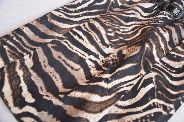 sukienka w motyw zwierzęcy panterka Mohito 36 S 34 XS brązowa
