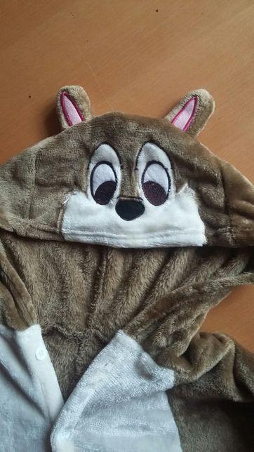 Przebranie wiewiórka r.L piżama kostium kigurumi onesie