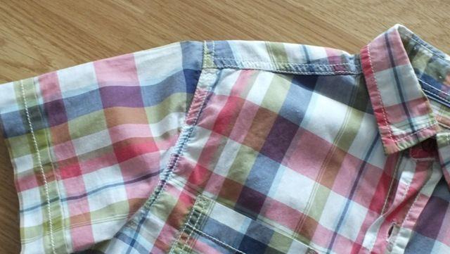 elegancka koszula krótki rękaw 128