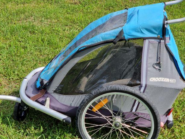 Przyczepka rowerowa dla 1 dziecka z opcją wózka