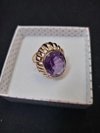 Promocja!! Piękny retro pierścionek złoto roz.18 .