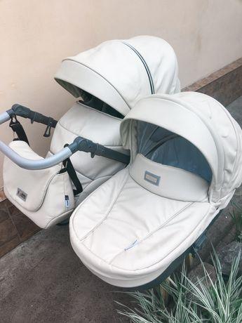 Детская коляска 2 в 1 Roan Bass Soft Beige Dots