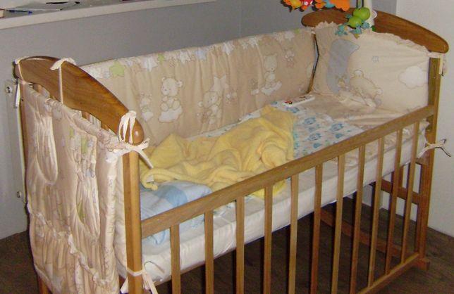 Детская кроватка-качалка (+ съемные колесики) с матрасом