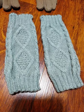 Варежки перчатки митенки рукавиці рукавицы зимние женские новые пальцы