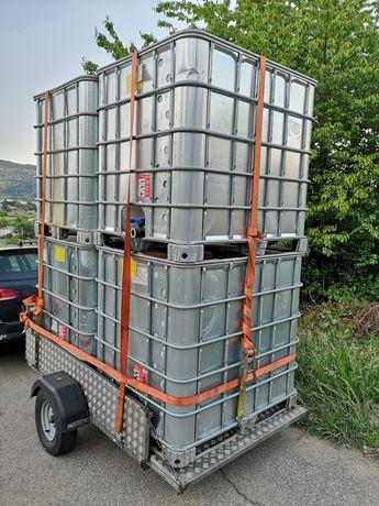 Depósitos 1000L plástico/chapa galvanizada