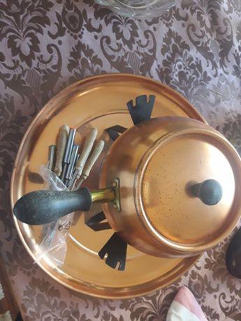 fondue em cobre
