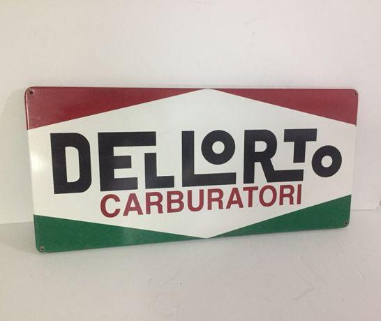Antiga Placa Esmaltada de Publicidade - Dellorto Carburatori