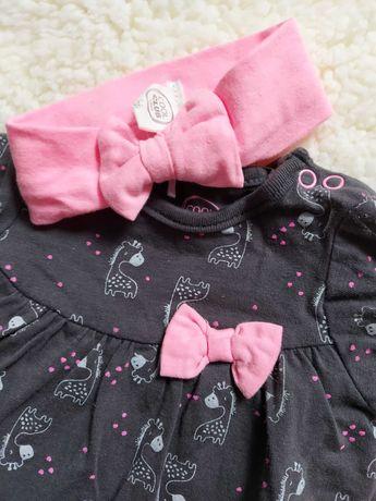 Sukienka z opaska/ sukienko-body / smyk rozmiar 56