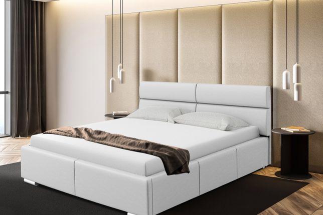 Łóżko sypialniane Monako, tapicerowane, pojemnik na pościel gratis.