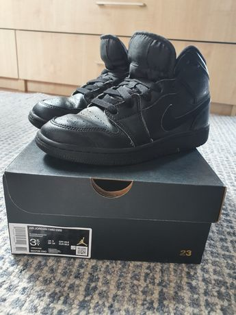Buty sportowe Nike Jordan czarne skórzane jesień 35,5
