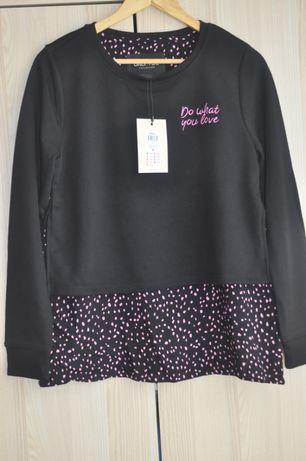Bluza ONLY You/czarna /kropeczki rozS/M