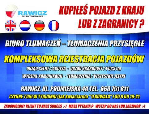 Biuro tłumaczeń / rejestracja pojazdów / ubezpieczenia oc i inne