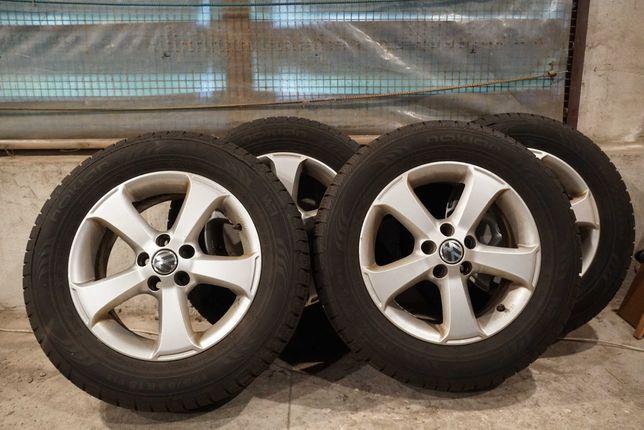 """4 Felgi aluminiowe 15"""", opony Nokian  WR G2 Ronal germany-VW, Skoda..."""
