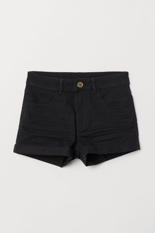 Czarne szorty H&M 146
