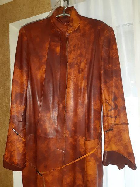 Пальто кожаные
