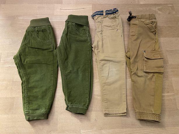 4 pary Spodnie chlopiece 92