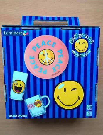 Детский набор посуды Luminarc Смайлики Smiley World First