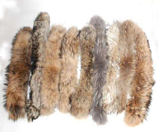 Натуральный мех на воротник енот опушка детский