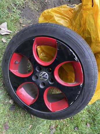 Felgi GTI 17' 5x112 ET51 225/45r17 VW Skoda Seat Audi opony letnie