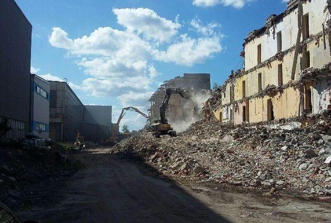 Wyburzanie, rozbiórka hal, konstrukcji stalowych, magazynów, budynków