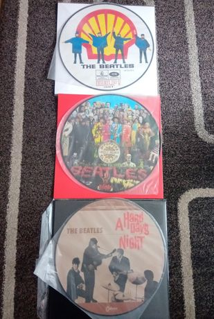 Beatles 3 picture disc, coloured winyl