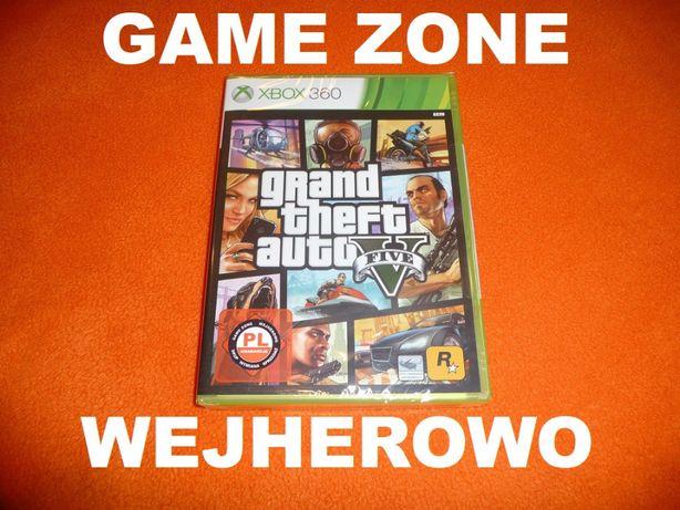 GTA 5 Xbox 360 + Slim + E = PŁYTA PL = Wejherowo = FOLIA