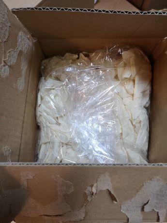 rękawiczki LATEKSOWE XL białe pudrowane 500 sztuk