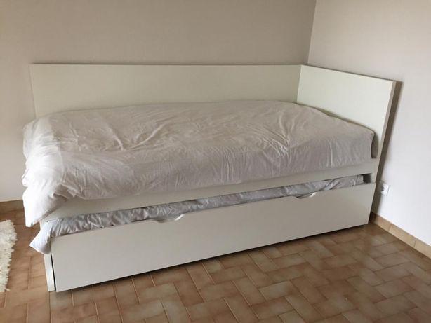 Cama solteiro dupla de gavetão Ikea Flaxa
