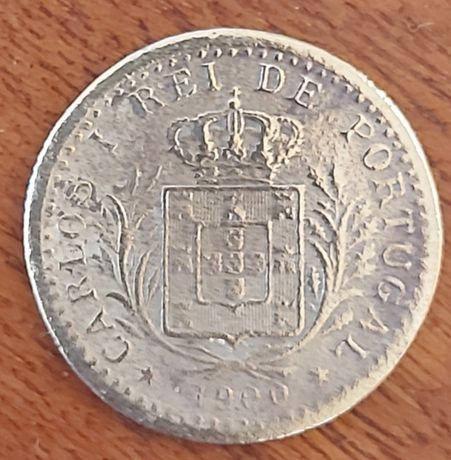 Moeda de D.CarlosI de 100 reis de 1900