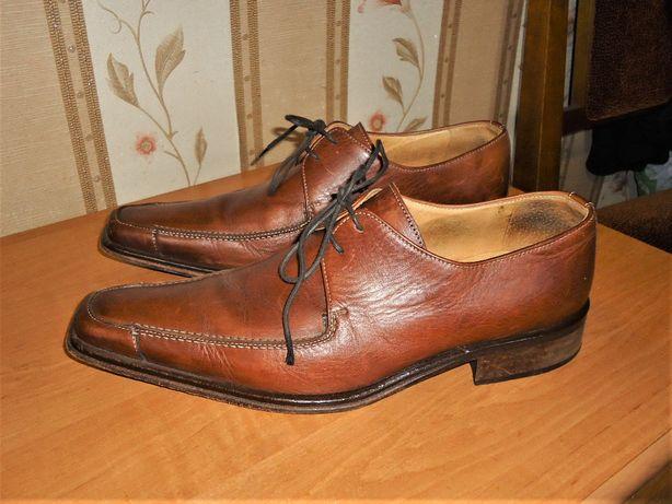 Мужские кожаные туфли VERO CUCIO , размер 40,5(28), Италия