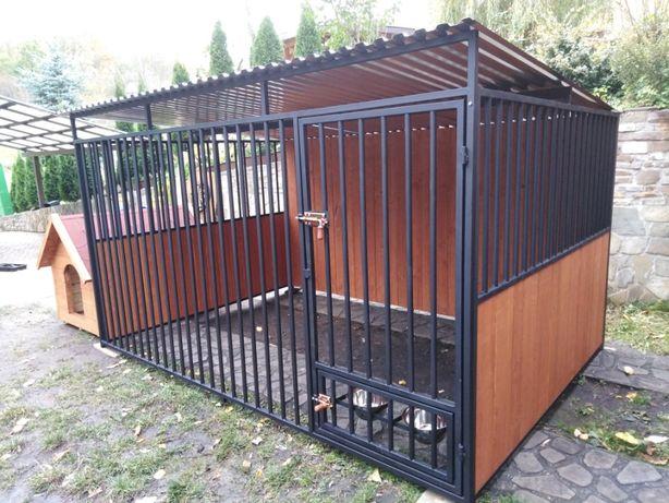 Kojec dla psa 3x2 m z drewnianymi ścianami , klatka, boks, zagroda