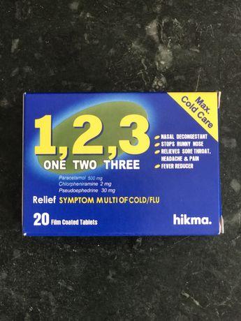 Таблетки от простуды 1,2,3 One two three с египта