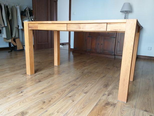 Drewniany stół/biurko + krzesło