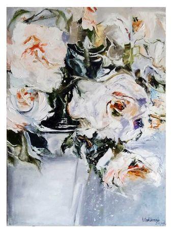 """Картина маслом """"Rose"""" интерьерная"""