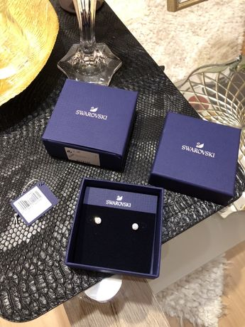 Swarovski kolczyki solitaire złoto krysztaly 249zł
