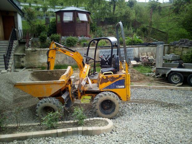 Wynajem usługi wozidło budowlane 1 ton 3 tony wypożyczalnia Nowy Sącz