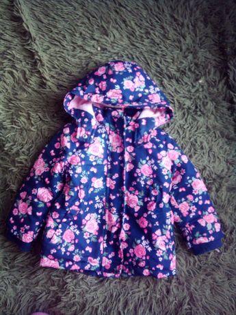 Срочно!!Продам курточку-парку с цветочным принтом для девочки