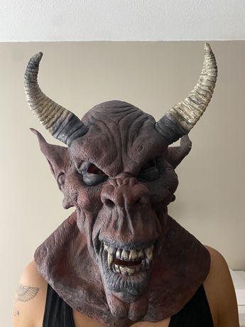 Máscara realista Halloween/ Carnaval de diabo