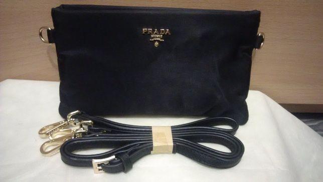 Женская сумка клатч Прада Prada с плечевым ремнем новая