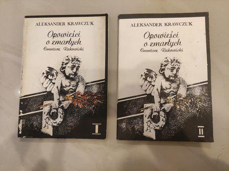 Opowieści o zmarłych Cmentarz Rakowicki, 2książki, Aleksander Krawczuk