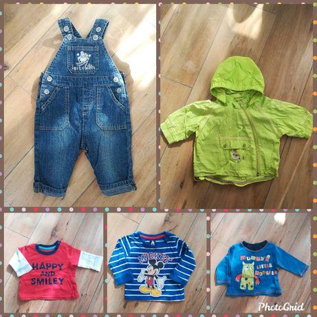 Набор: ветровка - дождевик, джинсовый комбинезон, кофты George, Микки