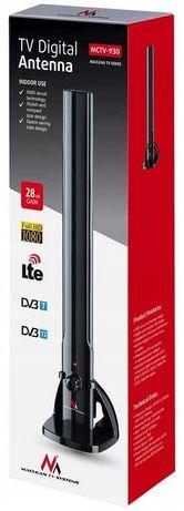 Antena tv pokojowa DVB-T DAB FM wewnętrzna 100dBuV