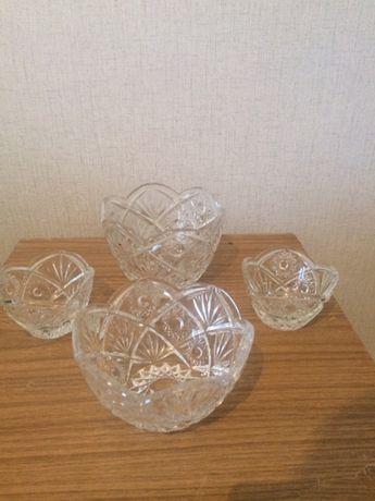 Хрусталь ( хрустальная посуда) 4 салатника