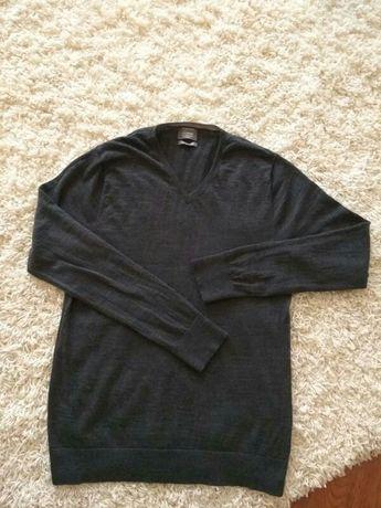 Шерстяной свитер полувер 100%шерсть мериноса